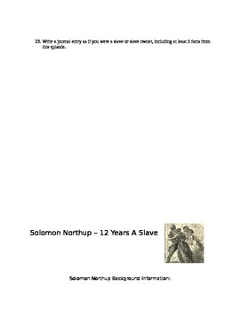 Slavery and the Making of America and Solomon Northup primary source