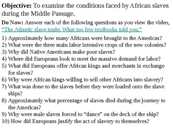 Slavery and the Middle Passage PowerPoint Presentation
