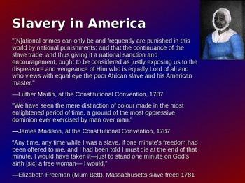 Slavery in America 1619-1860