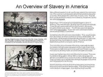 Slavery in America- An overview