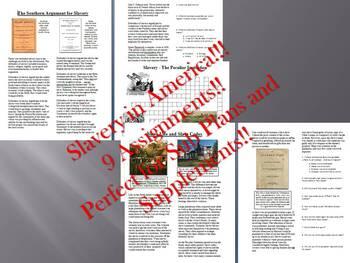 Informational Reading Text Bundle: Slavery in America (No Prep/Sub Plans)