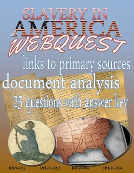 Slavery in America Webquest: Primary Sources on Slavery in America