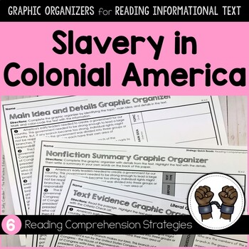 Slavery in Colonial America | Graphic Organizers for Reading Informational Text