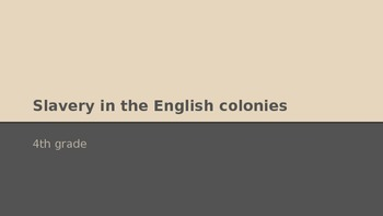 Slavery in English Colonies