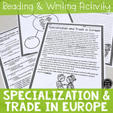 Specialization and Trade in Europe Reading & Writing Activ