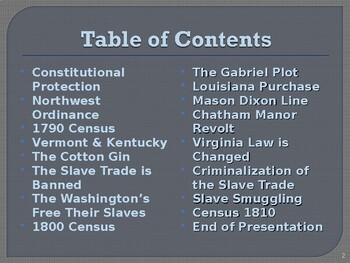 Slavery in the United States, 1788-1812