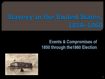 Slavery in the United States, 1850-1860