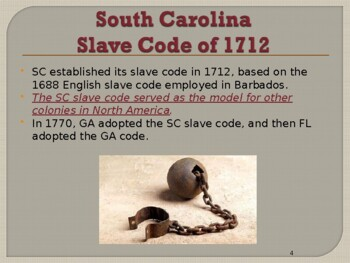 Slavery in the United States - Slave Codes and Laws