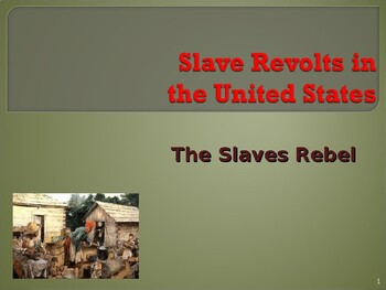 Slavery in the United States - Slave Revolts