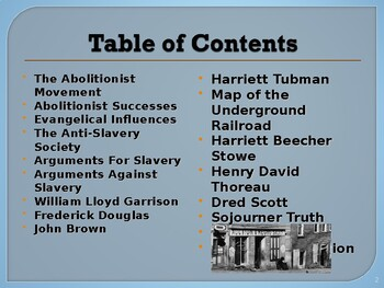 Political Movements & Events - The Abolitionist Movement