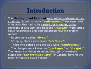 Slavery in the United States - The Underground Railroad