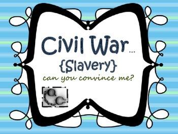 Civil War {Slavery writing}