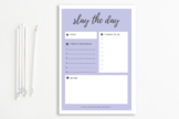 Slay the Day Printable Planner Page