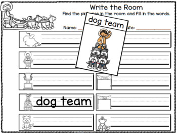 Sled Dog Differentiated Activities and Worksheets