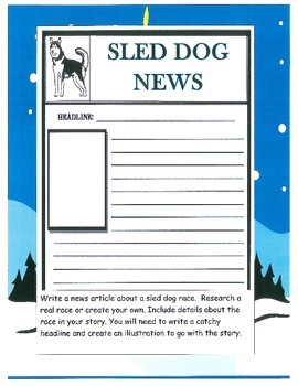 Sled Dog Racing,  Balto, Mushers - complete printable unit