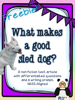 Sled Dogs Nonfiction Article Pack Freebie