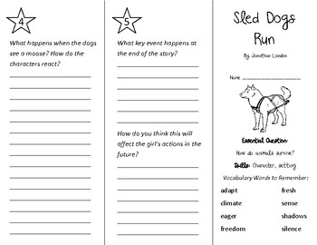 Sled Dogs Run Trifold - Wonders 2nd Grade Unit 2 Week 1
