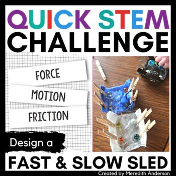Sled STEM Challenge - Quick STEM Activity or Santa's Sleigh