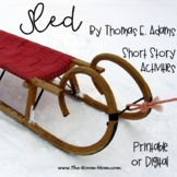 Sled Short Story by Thomas E. Adams with distance learning option