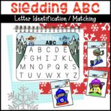 Sledding ABC Letter Matching Activity