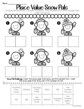 Sledding Into... Cut and Paste Math FREEBIE
