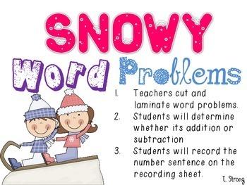 Sledding Into Math (5 Winter Centers)