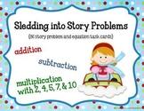 Math Task Cards: Sledding Into Story Problems