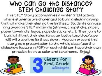 Sledding Ramp STEM Story Challenge