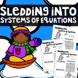 Sledding into Systems of Equations - Graphing, Substitution & Elimination