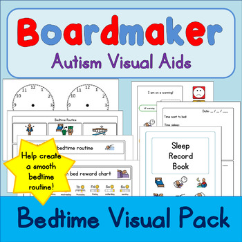 Sleep / Bedtime Visual Pack - Boardmaker Visual Aids for Autism