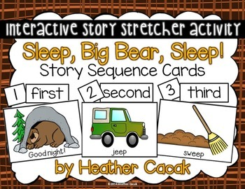 Sleep, Big Bear, Sleep! Story Sequence and Retelling Cards (Math and Literacy)