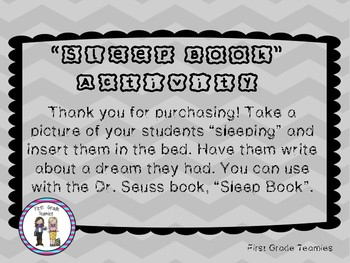 Sleep Book Craft