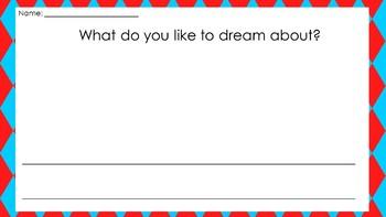 Sleep Book Writing Activity