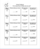 Sleep Challenge Daily Log Sheet and Reflection