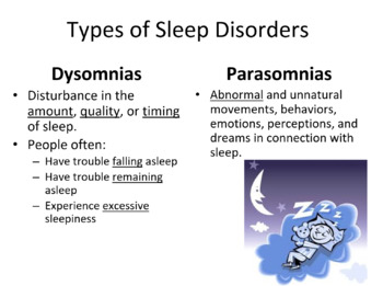 Sleep Disorders: Notes/Mini Project
