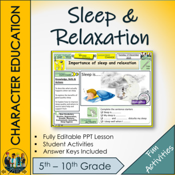 Sleep and Relaxation Lesson