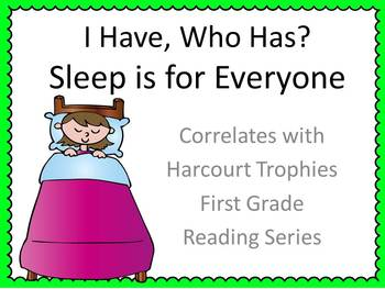 "Sleep is for Everyone ""I HAVE, WHO HAS?"" Sight Word Practice - Harcourt Trophies"