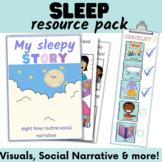 Sleep social story, night time visuals and reward chart