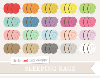 Sleeping Bag Clipart; Camping, Bed