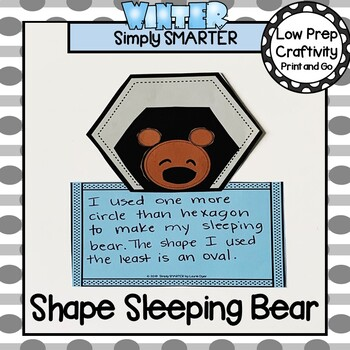 Sleeping Bear Themed Cut and Paste Shape Math Craftivity