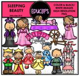 Sleeping Beauty Clip Art Bundle {Educlips Clipart}
