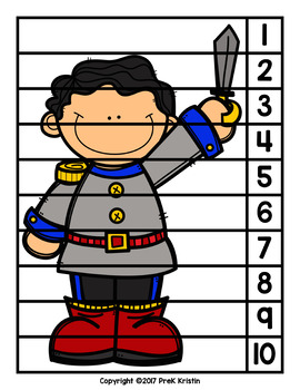 Sleeping Beauty (Fairy Tale) Skip Counting Number Puzzles