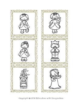 Sleeping Beauty File Folder Matching