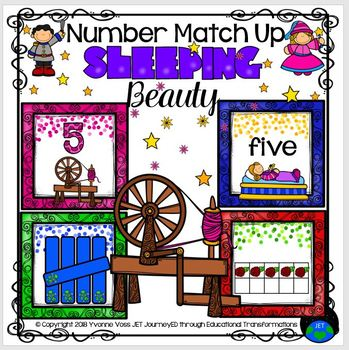 Sleeping Beauty Number Match Up