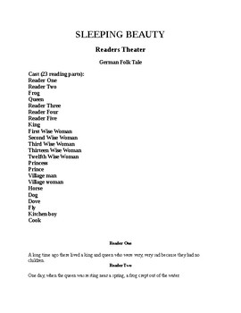 Sleeping Beauty Readers Theater
