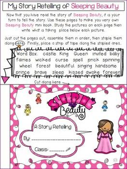 Sleeping Beauty - Story Retelling Worksheets