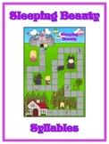 Sleeping Beauty Syllables - ELA First Grade Folder Game - Word Work Center