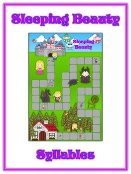 Sleeping Beauty Syllables - ELA First Grade Folder Game -
