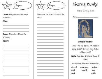 Sleeping Beauty Trifold - Open Court 4th Grade Unit 6 Lesson 5
