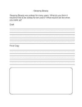 Sleeping Beauty Writing Prompt and Story Elements
